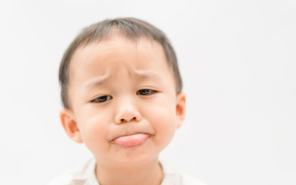 Child with a canker sore