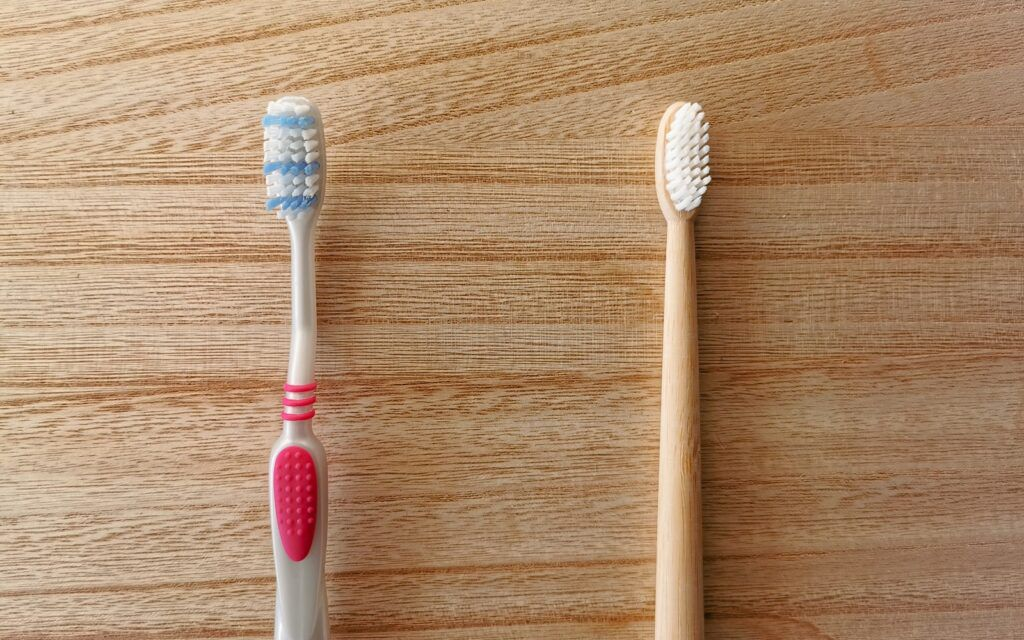 Plastic and bamboo Toothbrushes